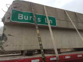 Crews working to repair a damaged overpass along a stretch of Route 30 in York County.