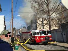 Emergency crews are on the scene of a 4-alarm fire on Beaver Street in Lancaster.
