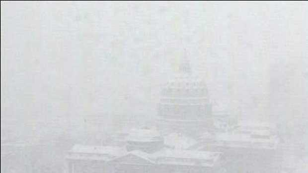 The state Capitol building is barely visible on WGAL's Harrisburg sky cam.