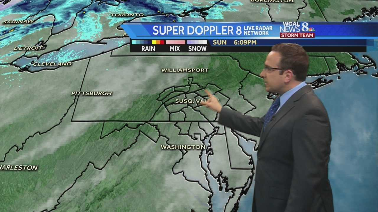 Mild With Scattered Showers Likely For Monday