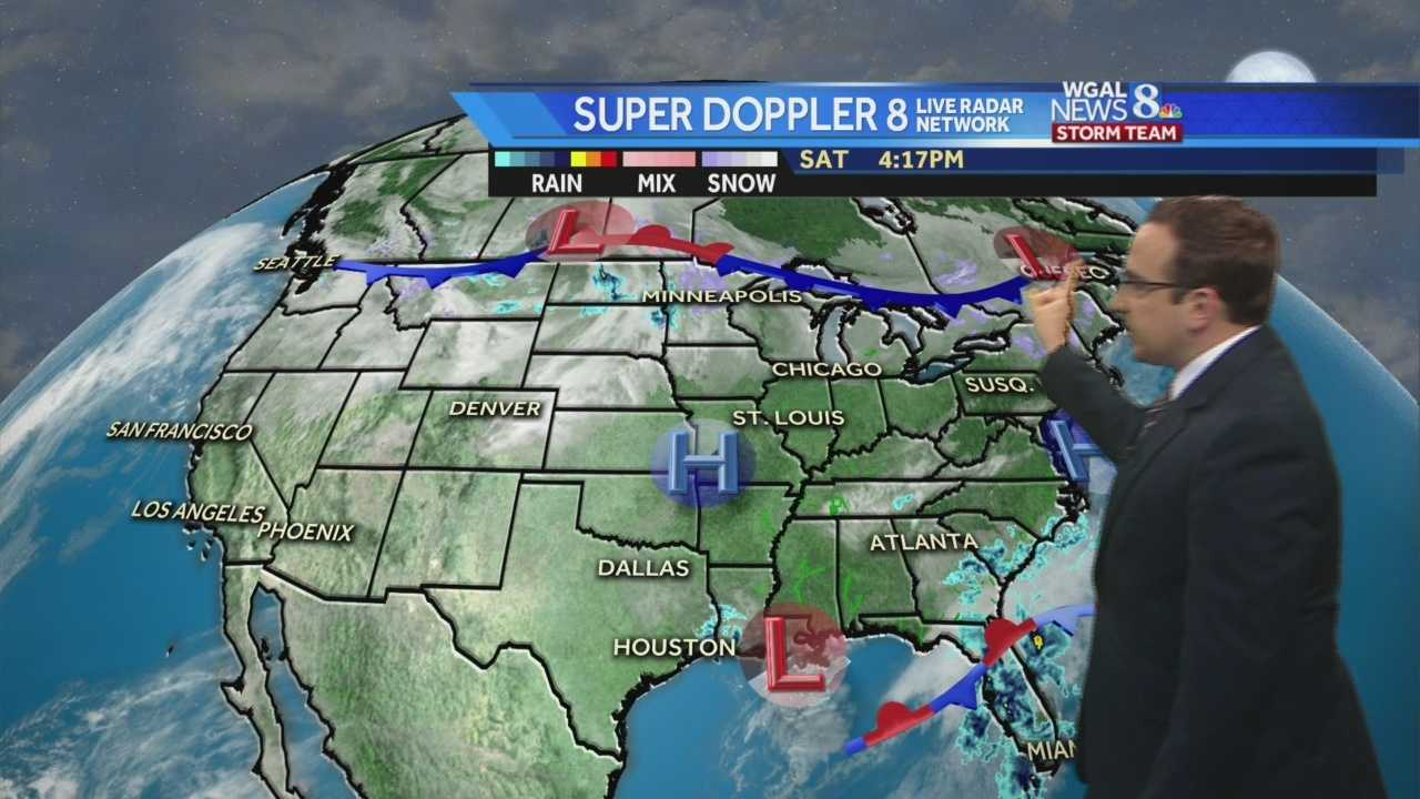 Mild & Dry Sunday,  Snow Chances Early in the Week