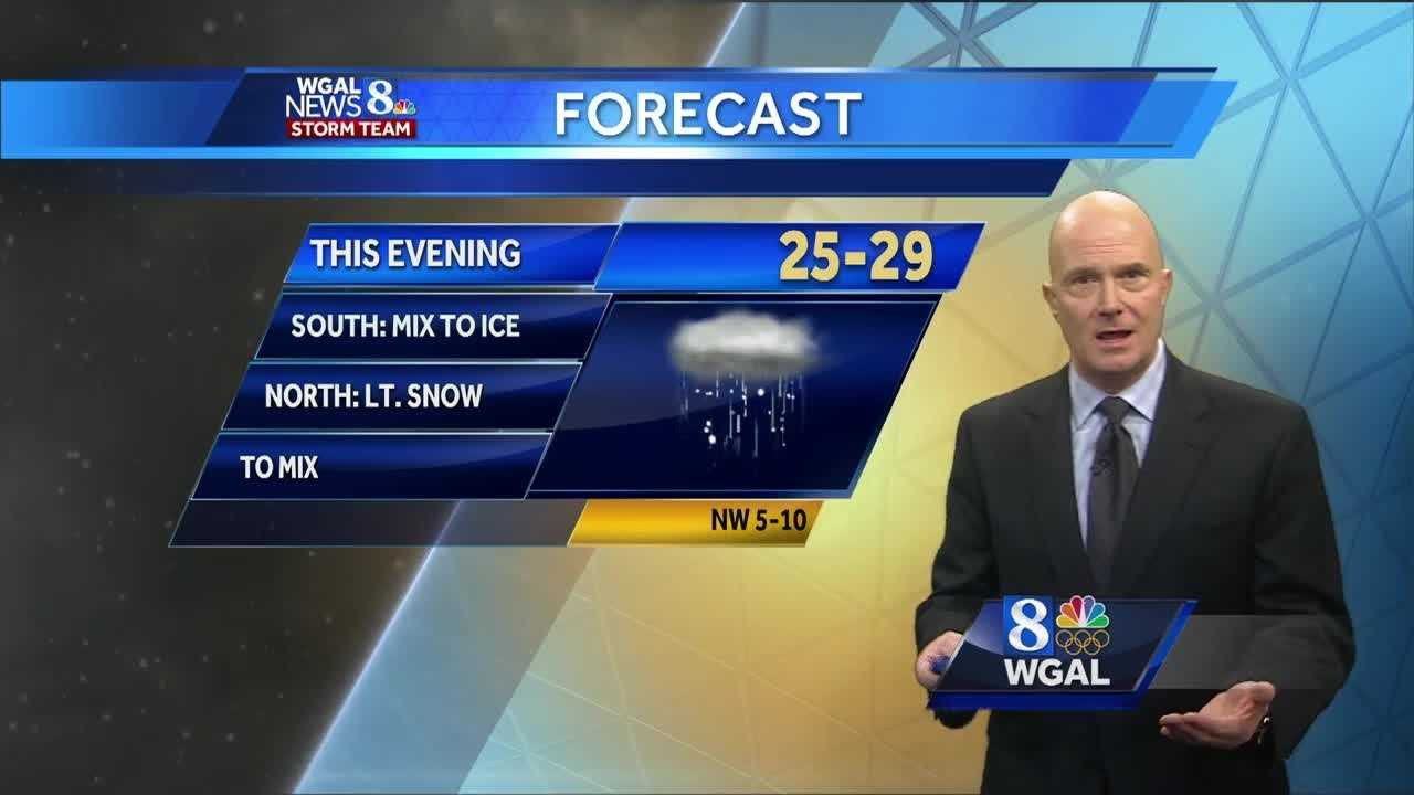 Sleet and freezing rain could make travel difficult tonight
