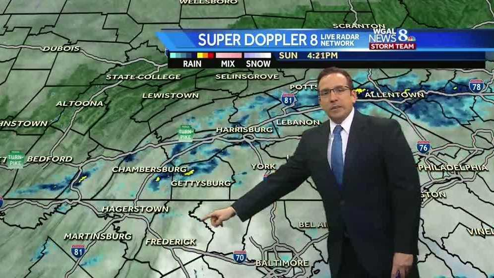 Scattered Showers End, Dry & Cooler Monday