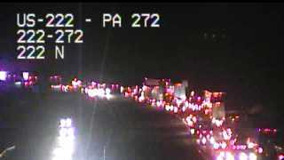 Traffic alert: Route 222 N closed in Lancaster due to accident