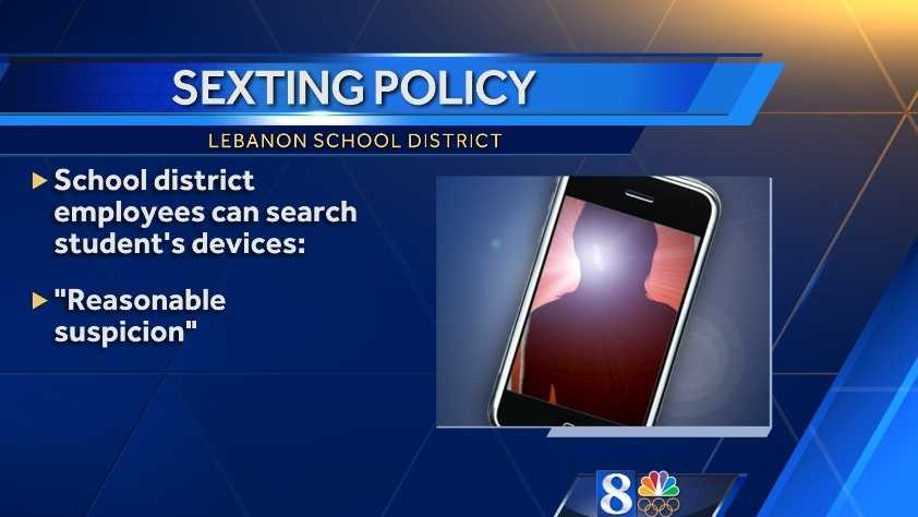 Lebanon School District cracks down on sexting
