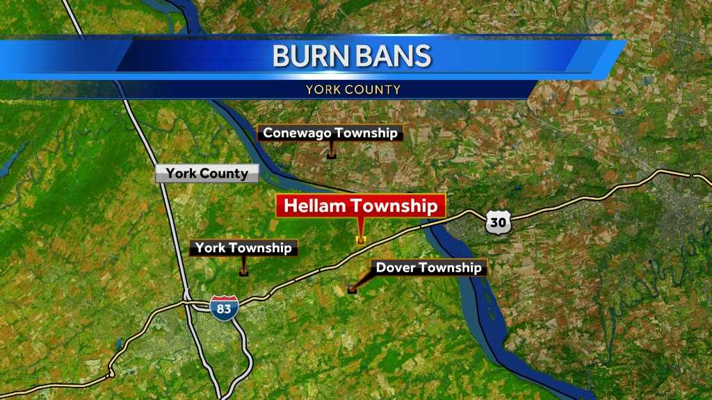 Burn ban issued for six York County communities