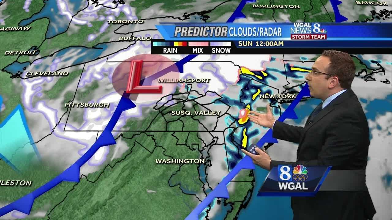 High Winds, Scattered Rain & Snow Showers Overnight