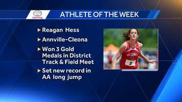 Athlete of the Week: Reagan Hess