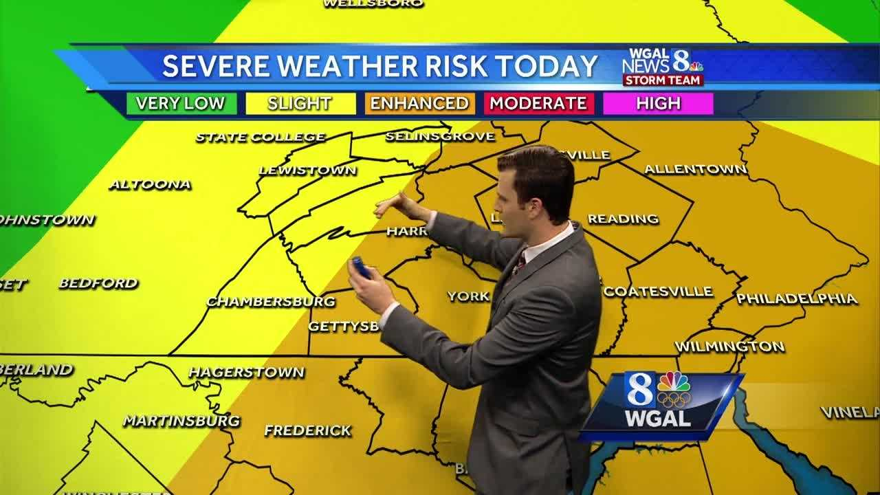 Damaging thunderstorms possible this afternoon