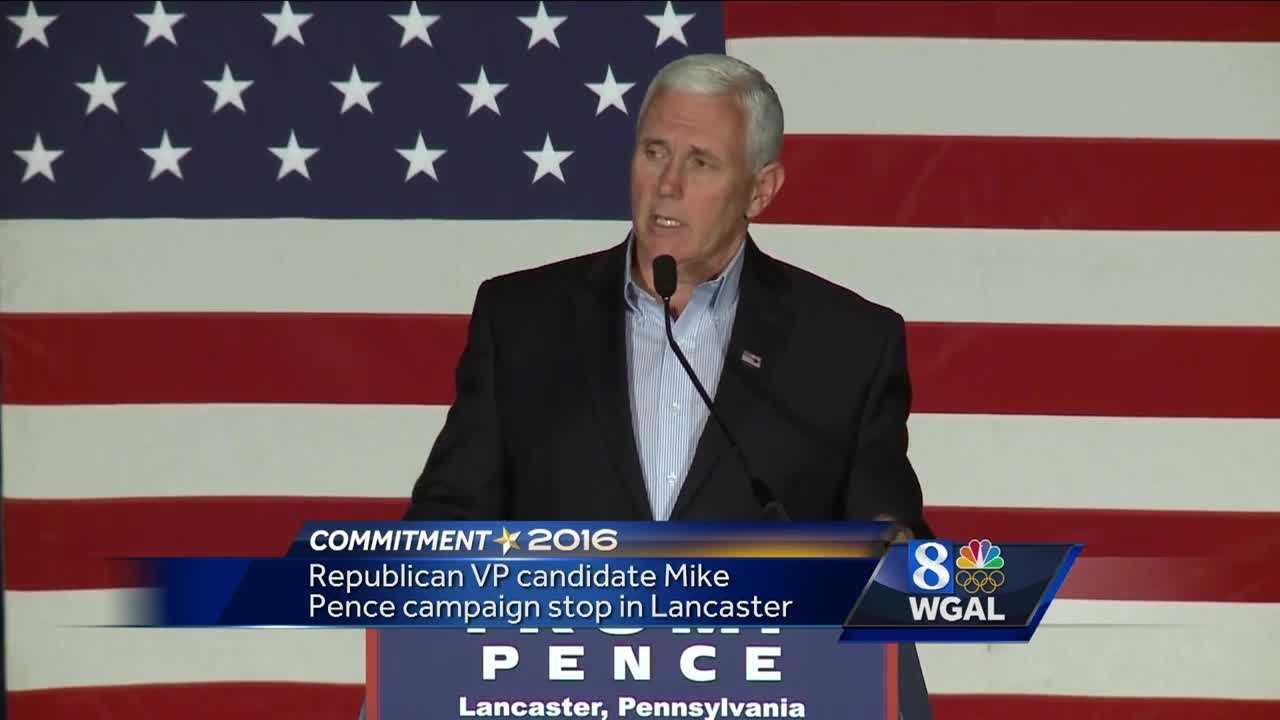 Pence in Lancaster 8.9.16