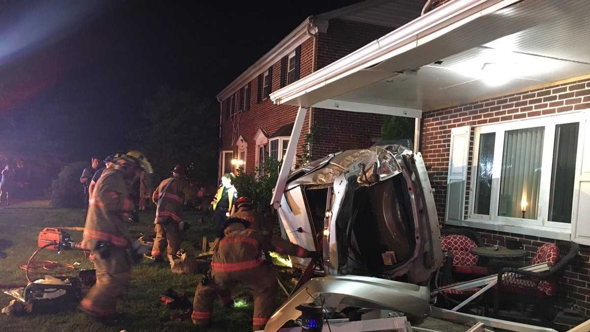 Car Into Home Scene