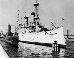 The USS Olympia allegedly has shadow figures, apparitions, and disembodied voices.