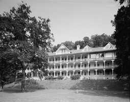 The Bedford Springs Hotel Historic District encompasses the grounds of a historic mineral springs resort. It was used by former U.S. President James Buchanan as his summer White House.