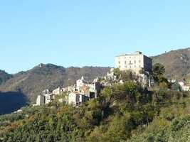 The medieval town of Balestrino, Italy began to lose its population in the late 19th century when earthquakes struck the region.