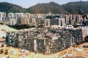 The Kowloon Walled City in China used to protect the area outside of Hong Kong against Pirates.