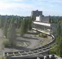 Prypiat, Ukraine is an abandoned city that was home to the Chernobyl Nuclear Power Plant workers.
