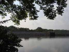 In 1945, the U.S. military formed Memorial Lake with a man-made dam. The lake is dedicated to the memory of the Pennsylvania National guard members who served in World War I and World War II.