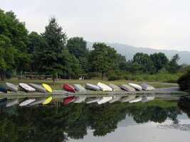 Eight boat racks and 48 shoreline spaces for overnight mooring are available to reserve from April through October.