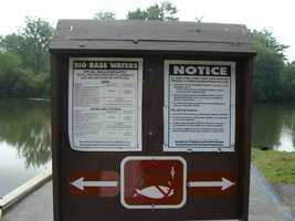 An ADA accessible fishing pier is located in the Middle Road area.