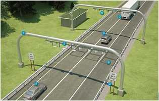 Previously, the commission released this and the following images, showing what a toll-booth-free turnpike might look like.