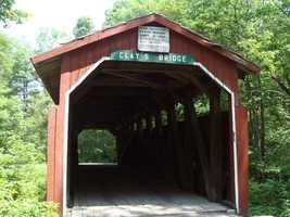 Clay's Bridge, which was originally built in 1890, was moved to its current location in 1971.