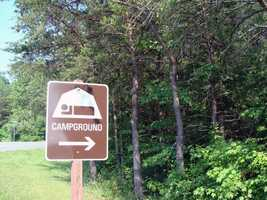 The modern campground is open from the day before trout season to the third Sunday in October.