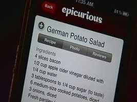 You can search recipes, access shopping lists while at the grocery store, and even use the voice-recognition search.
