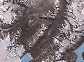 The McMurdo Dry Valleys are a row of valleys west of McMurdo Sound, Antarctica, so named because of their extremely low humidity and lack of snow and ice cover. Photosynthetic bacteria have been found living in the relatively moist interior of rocks. Scientists consider the Dry Valleys to be the closest of any terrestrial environment to Mars.