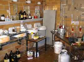 The following images are photos taken at a couple of seized meth labs.
