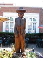 A statue of Gen. John Sutter greets diners at the General Sutter Inn.