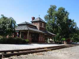 The former Lititz train station, which now serves as a visitor's center and shop, can be found in Lititz Springs Park.