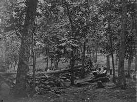 The officers voted. Nearly all of them agreed to stay and bolster their positions. This is a shot at the union defenses on Culp's Hill, which is about a mile to northeast of the Leister House.