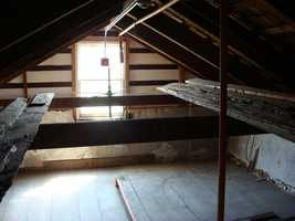 ... the Leister House attic.