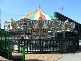 The carousel is over 50-years-old and the Revs are the second owners. It was originally in Illinois for 40-years, and then purchased and placed in Sovereign Bank Stadium.