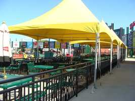 The picnic area is for parties and group events, and the White Rose Bar and Grill takes care of the catering.
