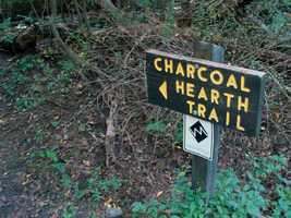 The Charcoal Hearth Trail is 2.4 miles and is the longest and most rugged trail in the park.