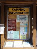 The park has two campgrounds with 175 tent and trailer sites. The camping season opens the first Friday after March 28 and ends after deer season in December.