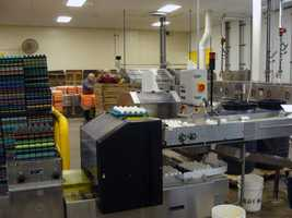 The Ephrata plant processes 5,000 to 6,000 cases of eggs each day. Each case holds 360 eggs.