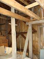 The original beams are the grayish-colored ones.