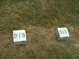 In some cases, the graves are numbered.