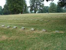 After the fight, more graves were added. All of the stones seen here mark the resting places of unknown soldiers.