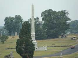 Pickett's charge ended here. A monument to the right of this image marks the place.