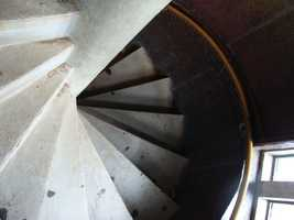 A short trip up these stairs affords some impressive views of another key area of the battlefield.