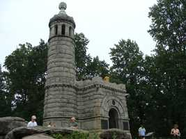 Today, at the top of Little Round Top sits this monument to the 44th and 12th New York. Fittingly, the monument has a 44 foot tall tower and a 12-foot-wide platform next to it. It's one of only two monuments at the battlefield that you can climb.