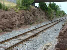 The nearby railroad cut was also a scene of fierce fighting the first day. The railroad was not complete at the time, but the ground had been prepared.