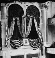Of course Booth went on to assassinate President Abraham Lincoln, shooting him in this booth at Ford's Theater. That same night, Lewis Powell, Booth's co-conspirator, tried to kill another man.