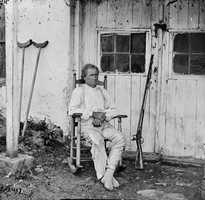 Burns, who was wounded in the battle, became a national celebrity. This picture was taken some time during 1863.
