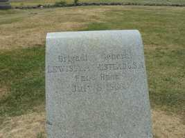 This marks the spot where Confederate Gen. Louis Armstead was mortally wounded. It's the farthest any southern general got during Pickett's Charge. When Armstead was hurt, he was just yards from his good friend, a northerner named ...