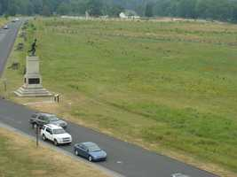 Here is another view of the monument to the 1st Minnesota.