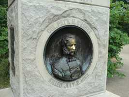 O'Rorke, an Irish immigrant, graduated at the top of his West Point class in June 1861. He was the only non-native born graduate. He also graduated with an infamous general seen earlier in this slideshow.